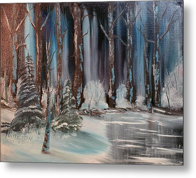 Winter Forest Metal Print by Larry Hamilton