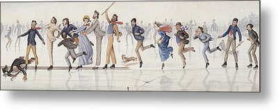 Winter Fun Metal Print by Charles Altamont Doyle