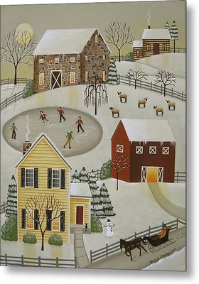 Winter Fun Metal Print by Mary Charles