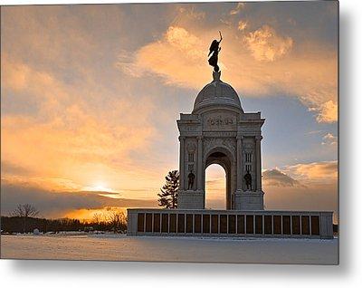 Winter Gettysburg Sunrise Metal Print