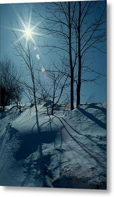 Winter Glow Metal Print by Raju Alagawadi
