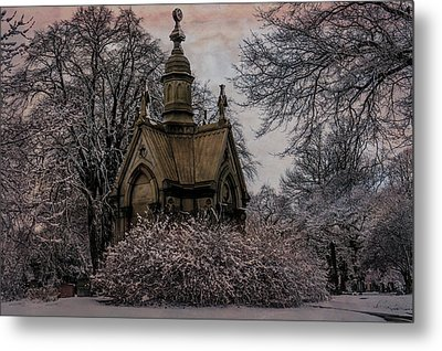 Metal Print featuring the digital art Winter Gothik by Chris Lord