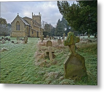 Winter Graveyard Metal Print