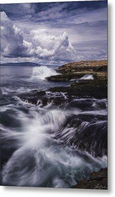 Winter Harbor At Acadia National Park Metal Print
