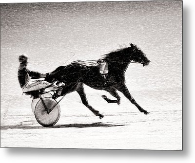 Winter Harness Racing Metal Print