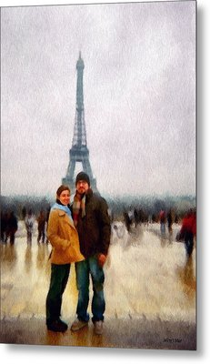 Winter Honeymoon In Paris Metal Print by Jeff Kolker