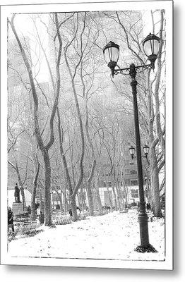Winter In Byrant Park Metal Print