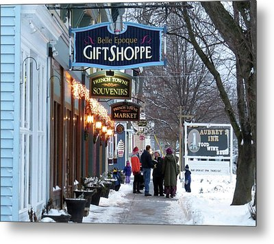 Winter In Cape Vincent Metal Print