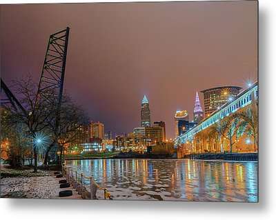 Winter In Cleveland, Ohio  Metal Print