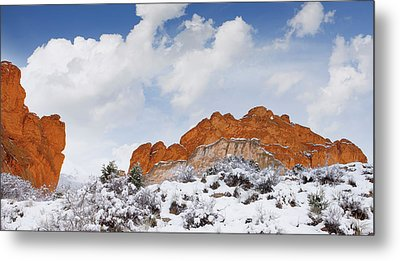 Metal Print featuring the photograph Winter In Spring by Tim Reaves