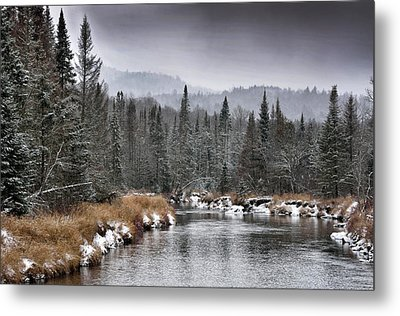 Metal Print featuring the photograph Winter In The Adirondack Mountains - New York by Brendan Reals