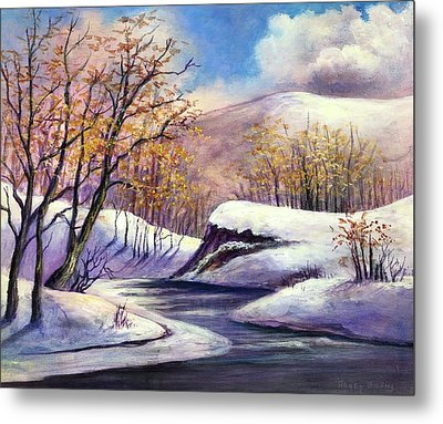 Metal Print featuring the painting Winter In The Garden Of Eden by Randol Burns
