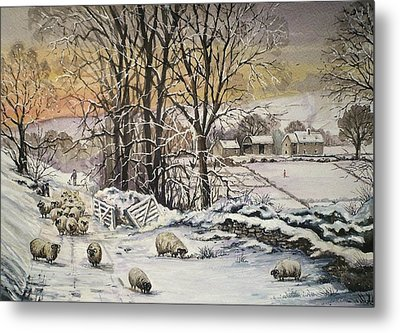 Winter In The Ribble Valley Metal Print by Andrew Read