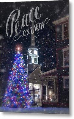 Winter In Vermont - Christmas Metal Print
