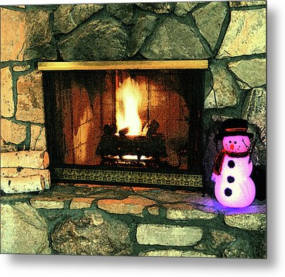 Winter Indoors Metal Print