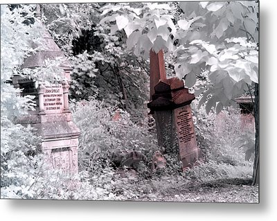 Winter Infrared Cemetery Metal Print by Helga Novelli