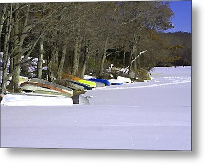 Winter Is Here Metal Print by Gerald Mitchell