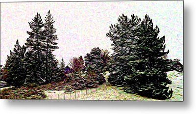Winter Landscape 1 In Abstract Metal Print