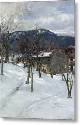 Winter Landscape Near Kutterling Metal Print