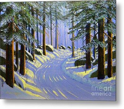 Winter Landscape Study 1 Metal Print by Frank Wilson
