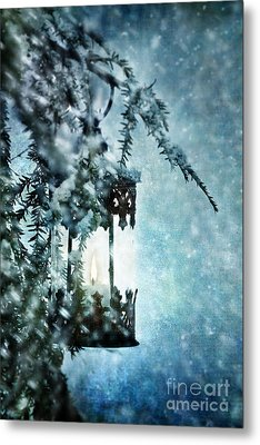 Winter Lantern Metal Print by Stephanie Frey
