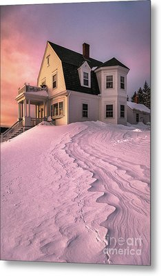 Winter Light At Marshall Point Metal Print by Benjamin Williamson