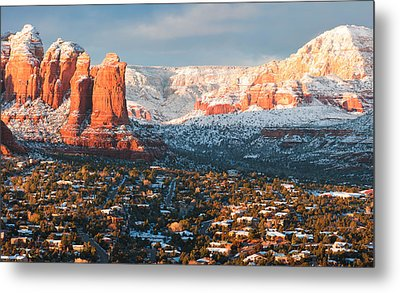 Winter Light In Sedona Metal Print