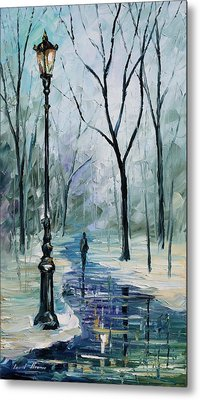 Winter Light Metal Print by Leonid Afremov