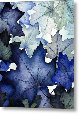 Winter Maple Leaves Metal Print by Christina Meeusen