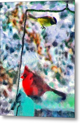 Winter Meals Metal Print