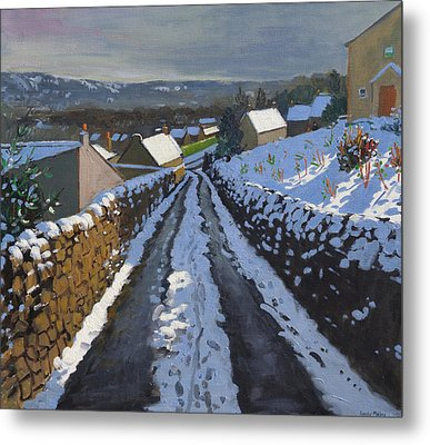 Winter Middleton Derbyshire Metal Print by Andrew Macara