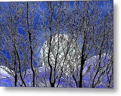 Metal Print featuring the digital art Winter Moon by John Selmer Sr