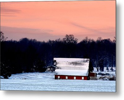 Metal Print featuring the photograph Winter Morn by Diane Merkle