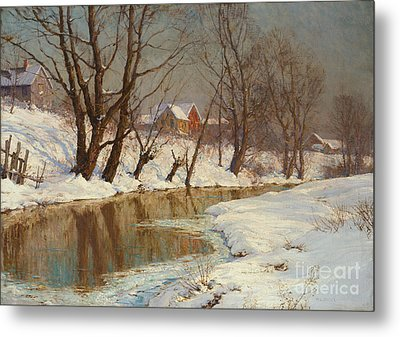 Winter Morning Metal Print by Walter Launt Palmer