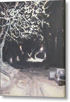 Winter Night Metal Print by Donna Lange