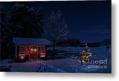 Metal Print featuring the photograph Winter Night by Torbjorn Swenelius