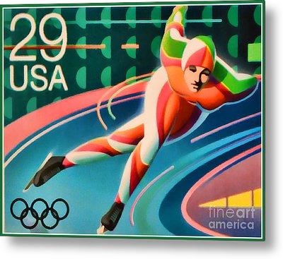 Winter Olympics - Speed Skating Metal Print