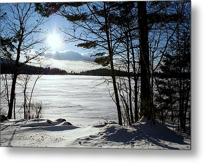 Winter On Dublin Lake Metal Print