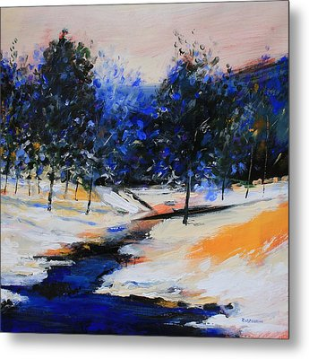 Winter On The Hill Metal Print by Mario Zampedroni