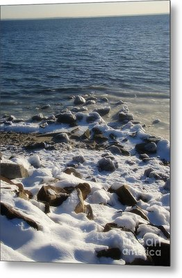 Metal Print featuring the photograph Winter On The Long Island Sound by Kristine Nora