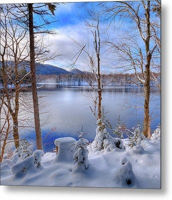 Winter On West Lake Metal Print by David Patterson