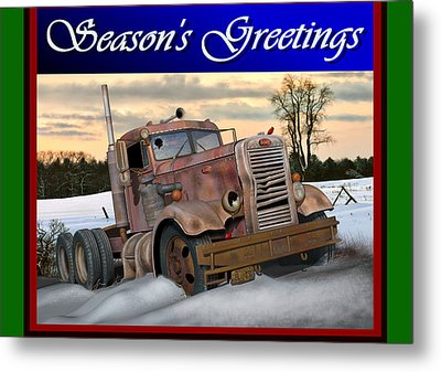 Winter Pete Season's Greetings Metal Print by Stuart Swartz