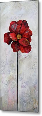 Winter Poppy II Metal Print