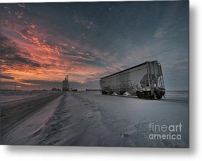 Winter Rail Car Metal Print by Ian McGregor