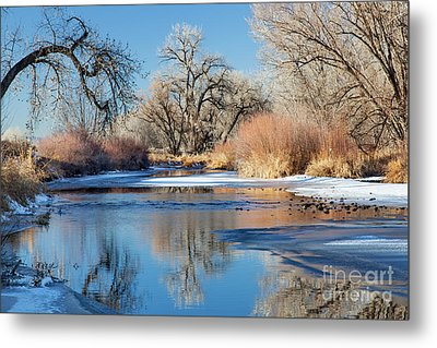 Winter River In Colorado Metal Print by Marek Uliasz