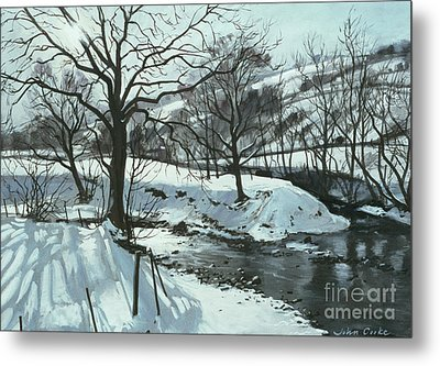 Winter River Metal Print by John Cooke