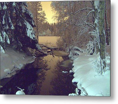 Metal Print featuring the photograph Winter River by Sami Tiainen