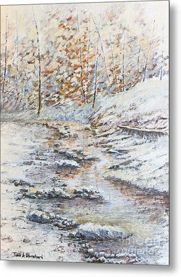 Winter River Metal Print by Todd A Blanchard