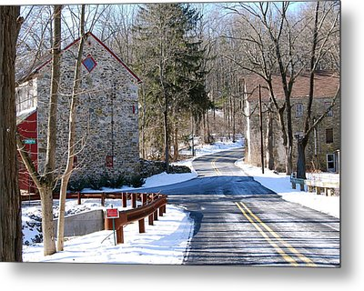 Winter Roads Metal Print by Kathy Gibbons
