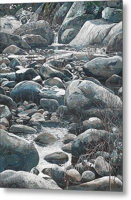 Winter Rocks Metal Print